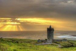 Fantasy Ireland Castle at Sunset