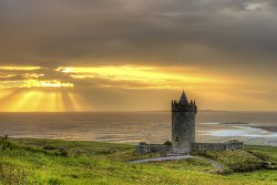Fantasy Ireland Castle at Sunset