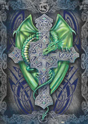 Green Celtic Dragon