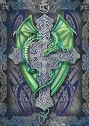 Green Celtic Dragon